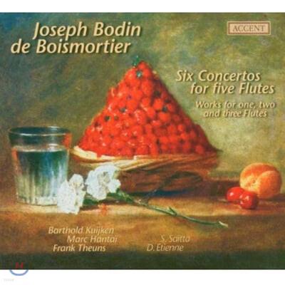 브아모르티에 : 5개의 플룻을 위한 6개의 협주곡