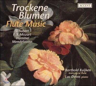 Barthold Kuijken 플루트와 포르테피아노 연주집 - 슈베르트 훔멜 멘델스존 (Trockne Blumen - Flute Music of the first half of the 19th century)