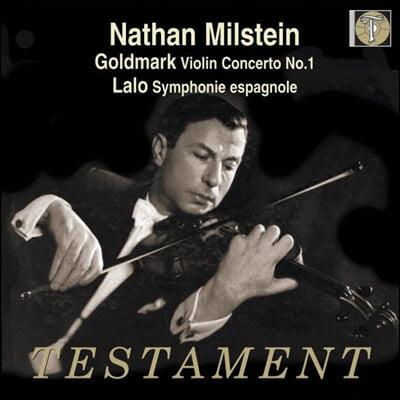 Nathan Milstein 골드마크: 바이올린 협주곡 1번 / 랄로: 스페인 교향곡 - 나단 밀스타인 (Goldmark: Violin Concerto Op.28 / Lalo: Symphonie espanole Op.21)