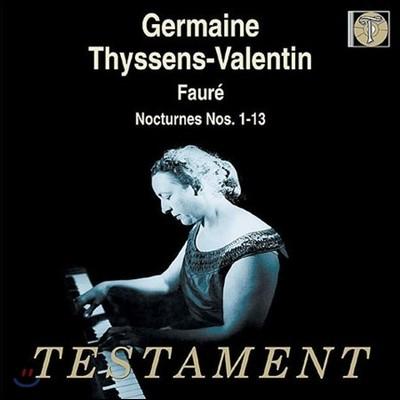 Germaine Thyssens-Valentin 포레: 녹턴 (Faure: 13 Nocturnes) 제르망 티셍-발랑탱