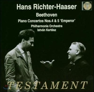 Hans Richter-Hasser 베토벤: 피아노 협주곡 4번 5번 `황제` (Beethoven: Piano Concerto No.4 No.5 'Emperor`) 한스 리히터-하저