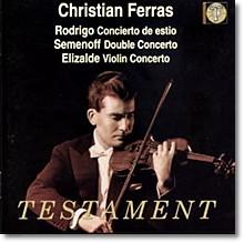 Christian Ferras 로드리고 / 세메노프 / 엘리잘데: 바이올린 협주곡