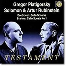 Gregor Piatigorsky  베토벤 /브람스 / 베버 : 첼로 소나타 - 피아티고르스키