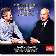 Ivan Moravec / Jiri Belohlavek 베토벤: 피아노 협주곡 4번 / 프랑크 : 교향적 변주곡 / 라벨 : 피아노 협주곡