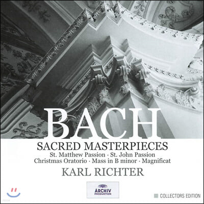 Karl Richter 바흐: 종교 작품집 마태 수난곡, 요한 수난곡, 미사 b단조 (Bach: Sacred Masterpieces)