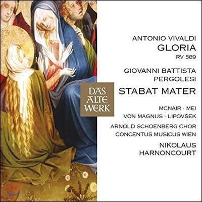 Nikolaus Harnoncourt 페르골레지: 스타바트 마테르 / 비발디: 글로리아 (Pergolesi: Stabat Mater / Vivaldi: Gloria RV589) 니콜라우스 아르농쿠르, 콘첸투스 무지쿠스 빈