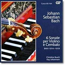 Christine Busch / Kay Johannsen 바흐: 바이올린과 하프시코드를 위한 6개의 소나타 (Bach: Sonatas for Violin & Harpsichord Nos. 1-6, BWV1014-1019)