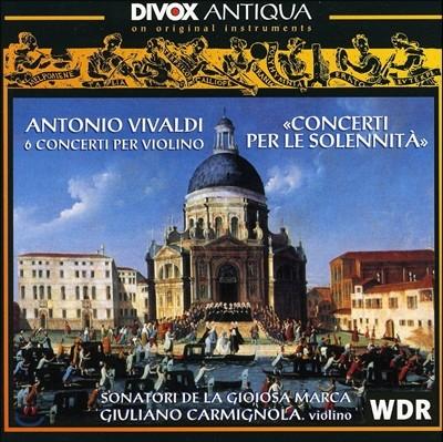 Giuliano Carmignola 비발디: 6개의 바이올린 협주곡 '열정' (Vivaldi: 6 Concerti Per Violino 'Concerti Per Le Solennita')