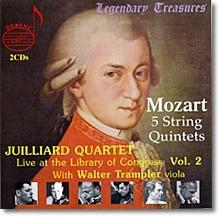 Juilliard Quartet 모차르트: 현악 오중주 2 3 4 5 6번 (Mozart: String Quintets K. 515 516 306 493 614)