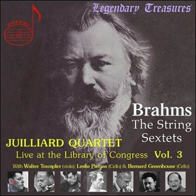 Juilliard Quartet 브람스: 현악 6중주 1번 2번 (Live At The Library Of Congress Vol. 3)