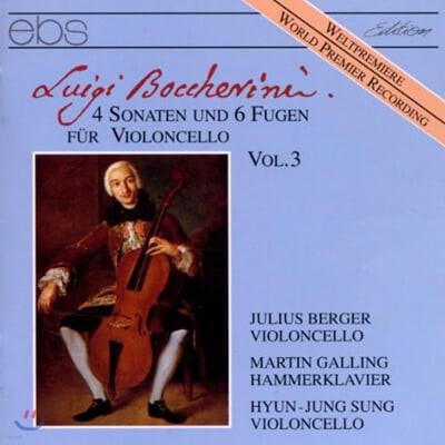 보케리니 : 첼로를 위한 4개의 소나타와 6개의 푸가 vol.3