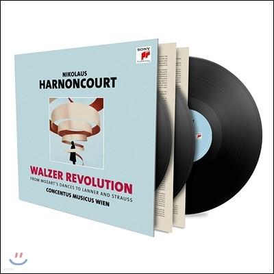 Nikolaus Harnoncourt 왈츠 레볼루션: 모차르트 / 슈트라우스 / 란너의 춤곡 - 니콜라우스 아르농쿠르, 콘첸투스 무지쿠스 빈 (Walzer Revolution - Mozart, Lanner, Strauss) [Audiophile 3LP]