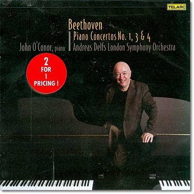베토벤 : 피아노 협주곡 1, 3 & 4번 - 존 오코너