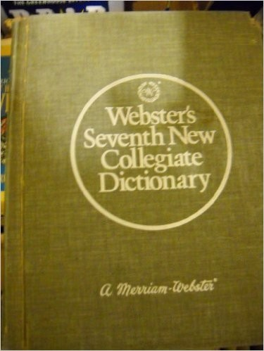 Webster's Seventh New Collegiate Dictionary Hardcover