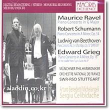 라벨 / 슈만 / 베토벤 / 그레그 : 피아노 협주곡 - 미켈란젤리, 첼리비다케