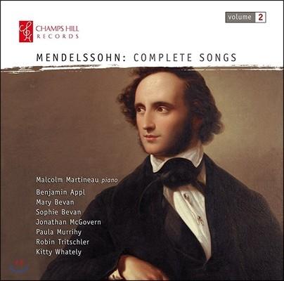 Malcolm Martineau 멘델스존: 가곡 전곡 2집 (Mendelssohn: Complete Songs[Lieder] Vol. 2) 말콤 마르티노, 매리 베번