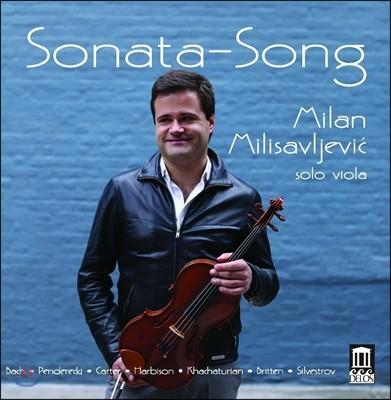Milan Milisavljevic 소나타 송 - 비올라 무반주 연주곡집: 바흐 / 펜데레츠키 / 하차투리안 / 브리튼 ( Sonata Song - Bach / Penderecki / Khachaturian / Britten) 밀란 밀리사브레비츠
