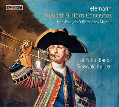 La Petite Bande / Sigiswald Kuijken 텔레만: 트럼펫과 호른 협주곡집 (Telemann: Trumpet & Horn Concertos) 지기스발트 쿠이켄, 라 쁘띠뜨 방드