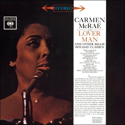Carmen McRae (카르멘 맥래) - Sings Lover Man and Other Billie Holiday Classics
