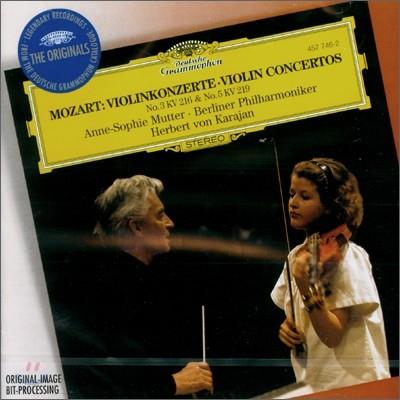 Anne-Sophie Mutter 모차르트: 바이올린 협주곡 3ㆍ5번 (Mozart : Violin Concerto No.3 & 5) 안네 소피 무터, 카라얀
