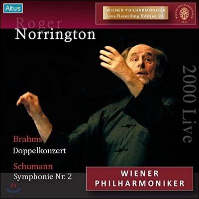 Roger Norrington 슈만: 교향곡 2번 / 브람스: 이중 협주곡 (Brahms: Double Concerto Op.92 / Shumann: Symphony Op.61) 빈 필하모닉, 로저 노링턴