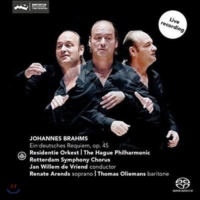 Jan Willem de Vriend 브람스: 독일 레퀴엠 (Brahms: Ein Deutsches Requiem Op. 45) 헤이그 필하모닉, 얀 빌렘 데 브린트
