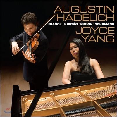 Augustin Hadelich / Joyce Yang(양희원) 프레빈: 탱고 노래와 춤 / 프랑크 / 쿠르탁 / 슈만: 바이올린 소나타 외 (Franck / Kurtag / Previn / Schumann: Works for Violin & Piano)