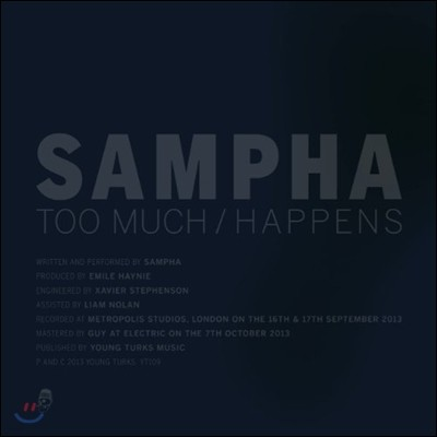 Sampha (샘파) - Too Much / Happens [Single LP]