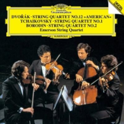 드보르작: 현악 사중주 12번'아메리카', 차이코프스키: 현악 사중주 1번, 보로딘: 현악 사중주 2번 (Dvorak: String Quartet No.12 'America', Tchaikovsky: String Quartet No.1, Bolodin: String Quartet No.2) (S