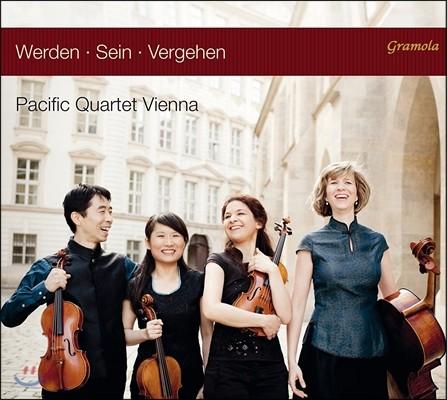 Pacific Quartet Vienna 하이든: 현악 사중주 27번 / 베베른: 사중주 바가텔 / 데룽스: 삼부작 외 (Werden, Sein, Vergehen - Haydn / Webern / Derungs / Mayuzumi) 퍼시픽 콰르텟 비엔나