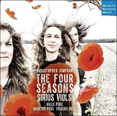 Hille Perl / Sirius Viols 크리스토퍼 심슨: 사계 - 힐레 페를, 시리우스 비올즈 (Christopher Simpson: The Four Seasons)