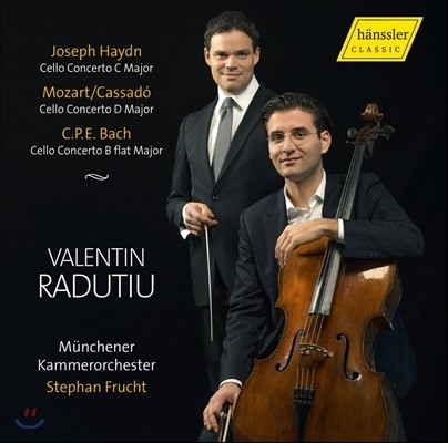 Valentin Radutiu 하이든 / 모차르트-카사도 / 칼 필립 에마누엘 바흐: 첼로 협주곡 (Haydn / Mozart-Cassado / C.P.E. Bach: Cello Concertos) 발렌틴 라두티우 / 슈테판 프루흐트