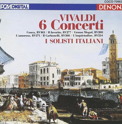 비발디 : 6개의 바이올린 협주곡집 RV.163,277,208,271,366,234