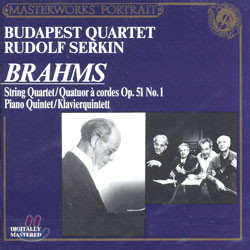 Brahms : String QuartetㆍPiano Quintet : Budapest QuartetㆍSerkin