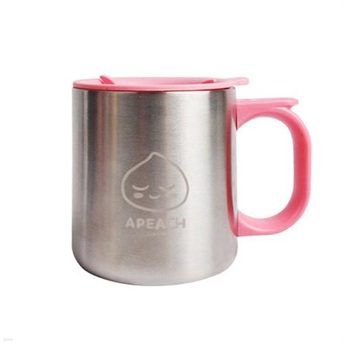 카카오프렌즈 컵 [이중스텐(280ml)-어피치-KF6150]