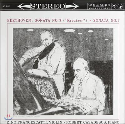 Zino Francescatti / Robert Casadesus 베토벤: 바이올린 소나타 9번 '크로이처', 1번 (Beethoven: Violin Sonata No.9 'Kreutzer', No.1) 지노 프란체스카티, 로베르 카자드쉬 [LP]