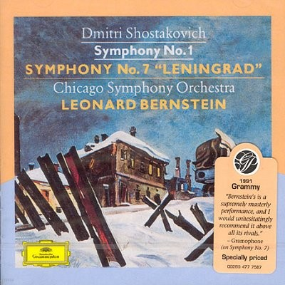Leonard Bernstein 쇼스타코비치 : 교향곡 1,7번 '레닌그라드' (Shostakovich: Symphony Nos.1 & 7) 번스타인