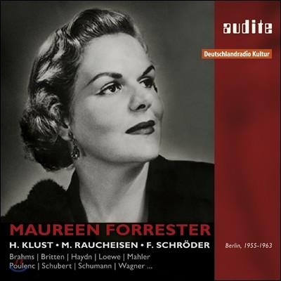 Maureen Forrester 모린 포레스터의 가곡 가창집 - 브람스 / 브리튼 / 바흐 / 바버 / 말러 / 슈베르트 (Brahms / Britten / C.P.E. Bach / Barber / Franck / Mahler / Schubert: Lieder)