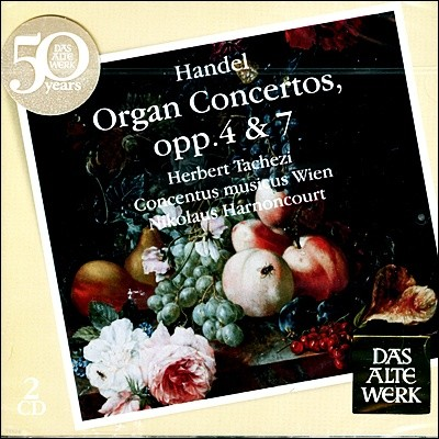 Herbert Tachezi 헨델: 오르간 협주곡 - 헤르베르트 타헤치, 니콜라우스 아르농쿠르 (Handel: Organ Concertos opps. 4 & 7)
