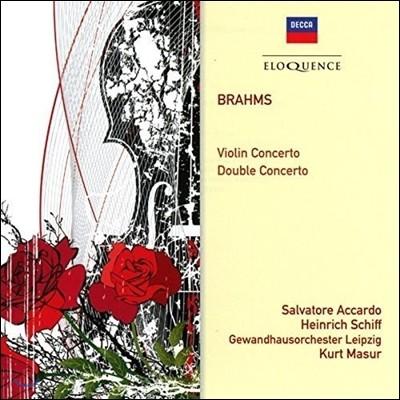 Salvatore Accardo 브람스: 바이올린 협주곡, 이중 협주곡 (Brahms: Violin Concerto Op.77, Double Concerto Op.102) 살바토레 아카르도, 하인리히 쉬프, 쿠르트 마주어