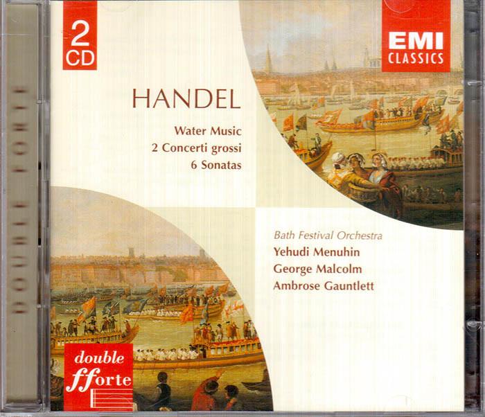 Handel : Water Music/ 2 Concerti Grossi/6 Sonatas (2CD)