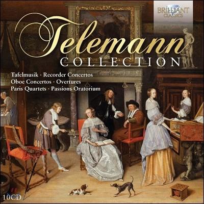 텔레만 컬렉션: 타펠무지크, 리코더 협주곡, 오보에 협주곡, 서곡집 외 (Telemann Collection: Tafelmusik, Recorder Concertos, Oboe Concertos, Overtures)