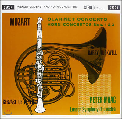 Peter Maag 모차르트: 클라리넷 협주곡, 혼 협주곡 (Mozart: Clarinet Concerto, Horn Concertos) [LP]