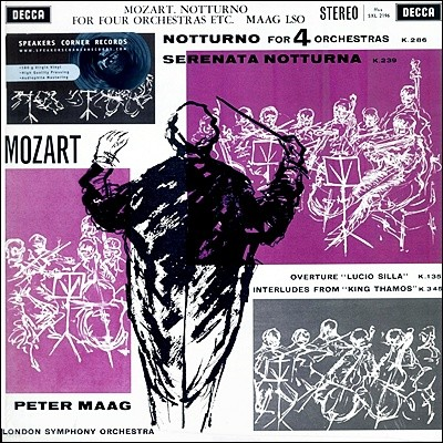 Peter Maag 모차르트: 노투르노 (Mozart: Notturno for Four Orchestras))