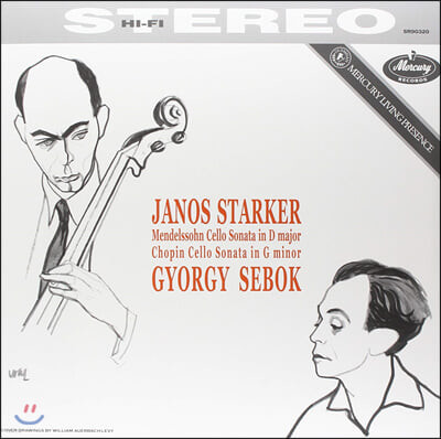 Janos Starker 멘델스존 / 쇼팽: 첼로 소나타 - 야노스 슈타커 (Mendelssohn: Cello Sonata No.2 / Chopin: Cello Sonata) [LP]