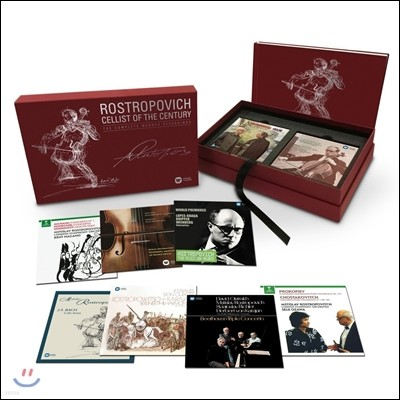 므스티슬라프 로스트로포비치 - 워너 클래식스 녹음 전곡집 (Mstislav Rostropovich: Cellist of the Century - The Complete Warner Classics Recordings)