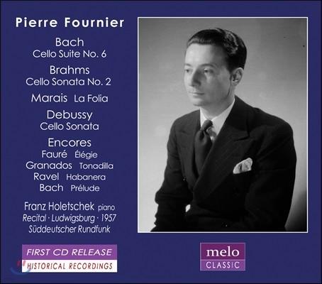 Pierre Fournier 피에르 푸르니에 - 바흐: 첼로 모음곡 6번 / 브람스: 소나타 2번 / 마랭 마레: 라 폴리아 외 (J.S. Bach: Cello Suite BWV1012 / Brahms: Sonata Op.99 / Marin Marais: La Folia)