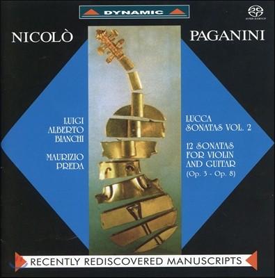 Luigi Alberto Bianchi / Maurizio Preda 파가니니: 바이올린과 기타를 위한 루카 소나타 2집 (Paganini: Lucca Sonatas for Violin & Guitar Op.3 & 8)