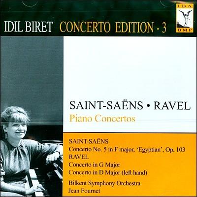 Idil Biret Concerto Edition Vol. 3 - 라벨 / 생상스: 피아노 협주곡 (Saint-saens / Rave: Piano Concerto)