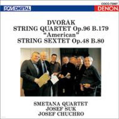 드보르작: 현악 사중주 '아메리카', 현악 육중주 (Dvorak: String Quartet 'American', String Sextet Op.48) (UHQCD)(일본반) - Smetana Quartet